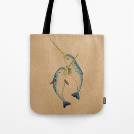 Winter Narwhals Tote Bag
