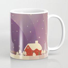 Peaceful Snowy Christmas (Plum Purple) Coffee Mug