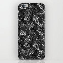 Summer grass , gray ,  black , white 2 iPhone Skin