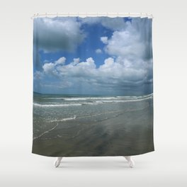 Dramatic Sky Over Litchfield Beach Shower Curtain