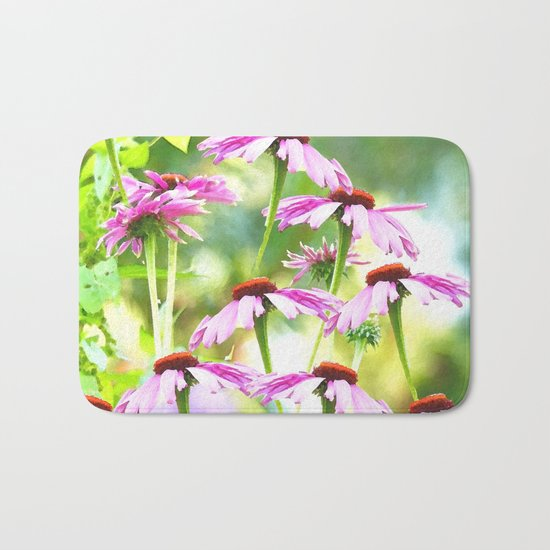 Wandering in the garden - summer mood Bath Mat