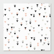 triangle grey background Canvas Print