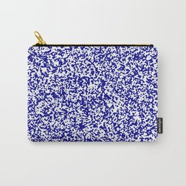 Tiny Spots - White and Dark Blue Carry-All Pouch