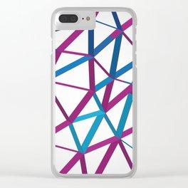 3D Futuristic GEO Lines Clear iPhone Case