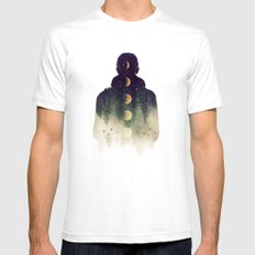 Night Air SMALL Mens Fitted Tee White