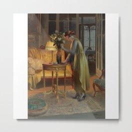 Delphin Enjolras 1857-1945 FRENCH ARRANGEANT LES FLEURS Metal Print