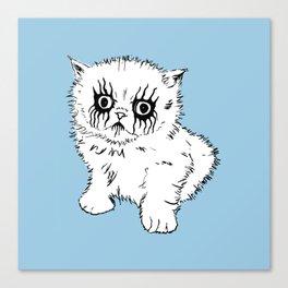 Black Metal Kitty Canvas Print