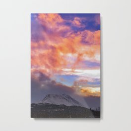 Flat Top Storm Clouds - Alaska Metal Print