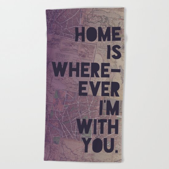 With You Beach Towel
