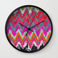 chevron Wall Clocks featuring Chevron * by Mr and Mrs Quirynen
