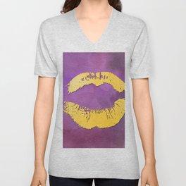 dp048-5 Watercolor kiss Unisex V-Neck