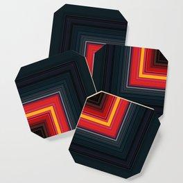Bright Red Square Design Coaster