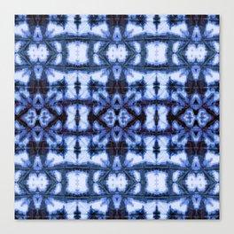 Blue Oxford Shibori Canvas Print
