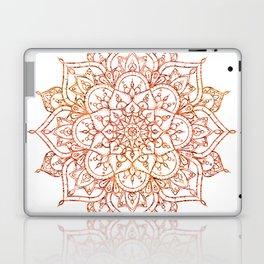 Pink & Orange Mandala on White Laptop & iPad Skin