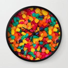 Jujubes Gummy Candy Photo Pattern Wall Clock