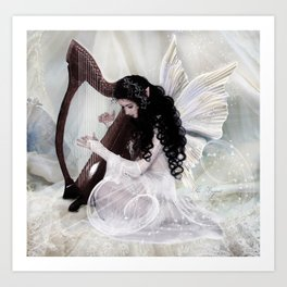 The Harpist Art Print