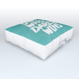 She Who Dares Wins Motivational Quote Outdoor Floor Cushion