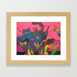Tipi time Travel Framed Art Print