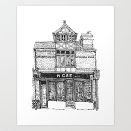 H. GEE_94a Mill Road_Cambridge Art Print