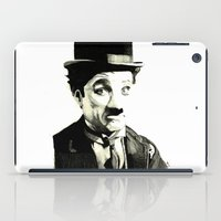 charlie chaplin iPad Cases featuring Charlie Chaplin by Lauren Randalls ART