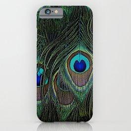 Peacock feathers, peacock design, peacock, feathers, bird iPhone Case