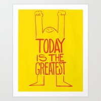 motivation Art Prints featuring Motivation by Joe McNeice