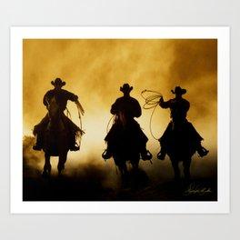Three Cowboys Western Art Print