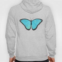 Blue Morpho Butterfly Pattern Hoody