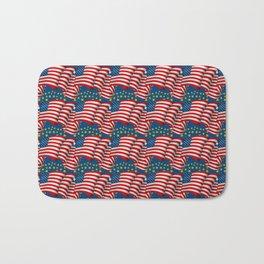 American Flag Pattern Bath Mat