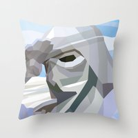 snow Throw Pillows featuring Snow by Liam Brazier