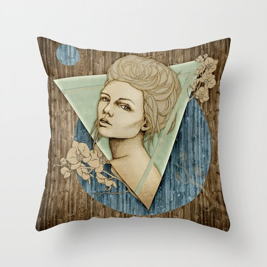 """Fleur Spring"" by carographic - Carolyn Mielke Throw Pillow"