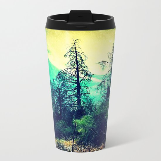 Looking Out through the Rabbit-Hole Metal Travel Mug