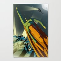 superman Canvas Prints featuring Superman by Peerro