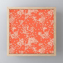 Falling Petals in Red Framed Mini Art Print
