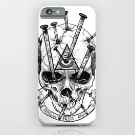Drive in the Nails by Fred Gonzalez iPhone Case