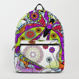 Colorful Butterflies and Flowers V5 Backpack