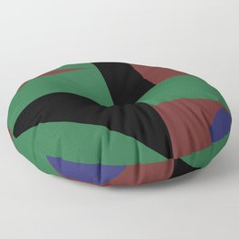 Mondrian style geometrical dark colors high resolution fine art for home decor. Floor Pillow
