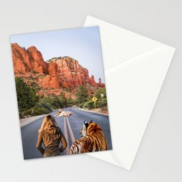 Who will Cross Me? #animal #photography #collage Stationery Cards