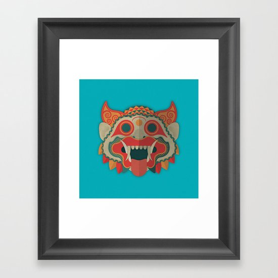 Paper Mask Framed Art Print