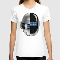 tron T-shirts featuring Daft Punk - Tron Legacy by Hayes Johnson