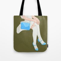 legs Tote Bags featuring legs by ministryofpixel
