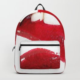 Sexy Lip Bite Mouth Lipstick Backpack