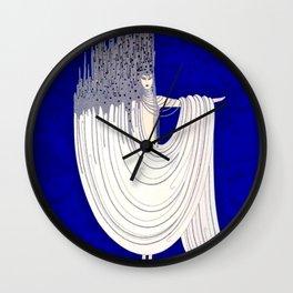 """North Sea"" Art Deco Design by Erté Wall Clock"