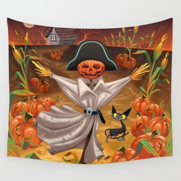 Pumpkin Scarecrow Wall Tapestry