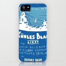 Kuhles Blau Light iPhone Case