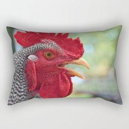 Rooster Portrait Rectangular Pillow