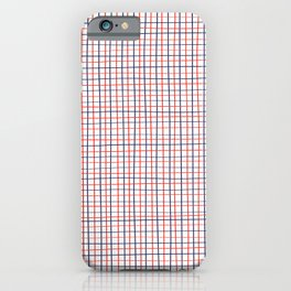 French Grid iPhone Case