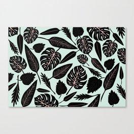 Blacked Leaves Canvas Print