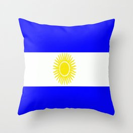 Flag of Argentina Throw Pillow