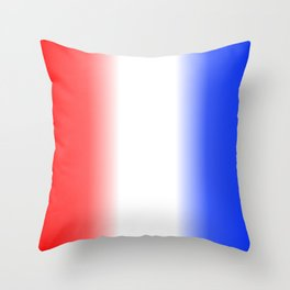 Red White and Blue Stripes Throw Pillow